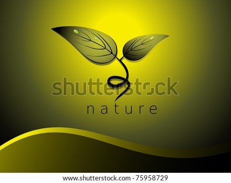 beautiful nature concept background, vector illustration - stock vector