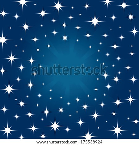 Beautiful night star in sky for background  - stock vector