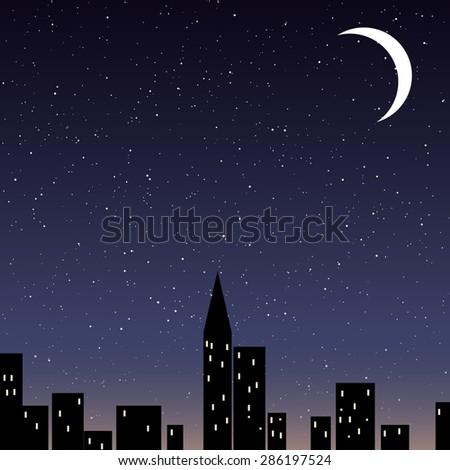 Night Sky City Stock Vectors Images amp Vector Art