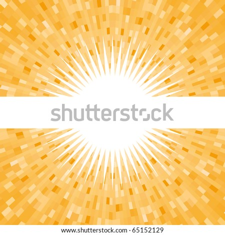 Beautiful orange shine vector background - stock vector