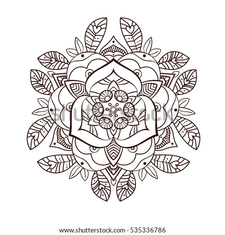 Beautiful Ornamental Peony Flower Coloring Book For Adults Old School Tattoo Print On