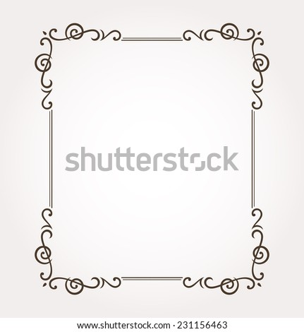 Beautiful ornate frame and card decoration. Vector illustration