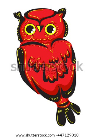 beautiful owl vector illustration, color, abstract illustration.