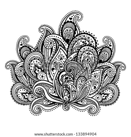 Beautiful paisley ornament - stock vector