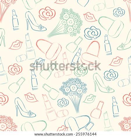 Beautiful pattern for International Women's Day celebration. - stock vector
