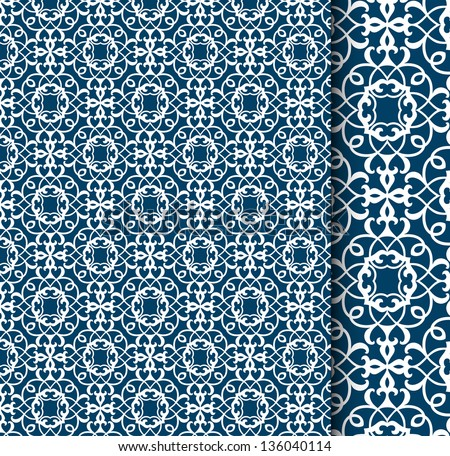 beautiful pattern (with detail to side in esp10) - stock vector