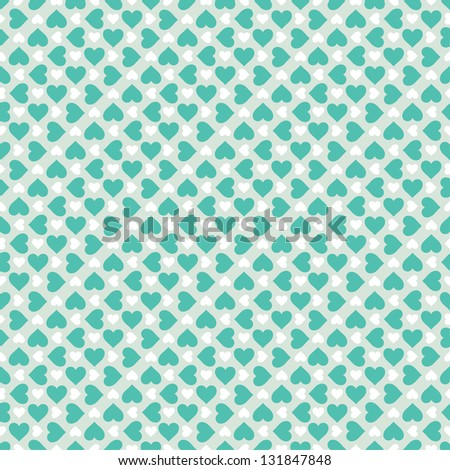 Beautiful pattern with hearts. Vector illustration - stock vector