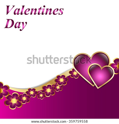 beautiful pink background with hearts - stock vector