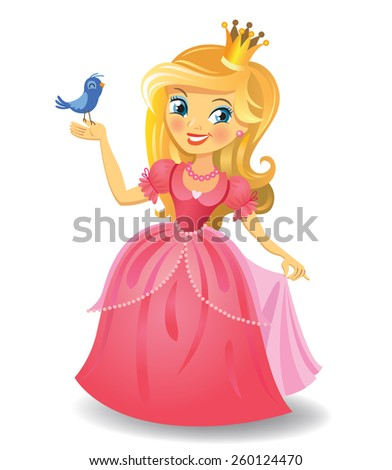 Beautiful princess - stock vector