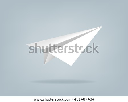 beautiful realistic vector illustration of paper plane