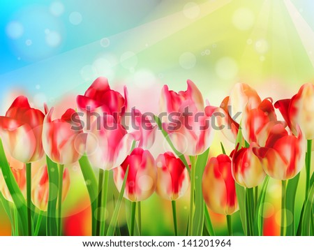Beautiful Red Tulips. And also includes EPS 10 vector