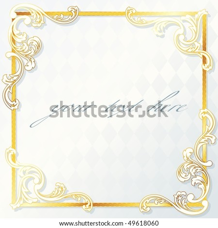 Beautiful rococo wedding frame, includes transparencies (Eps10); JPG version also available - stock vector