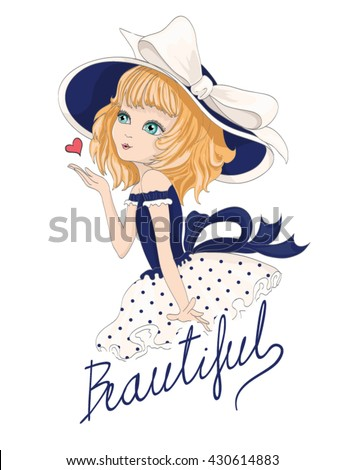 Cute girl cartoon stock images royalty free images for Entire book on shirt