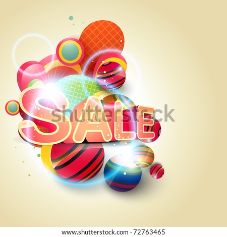 beautiful sale background eps10 vector