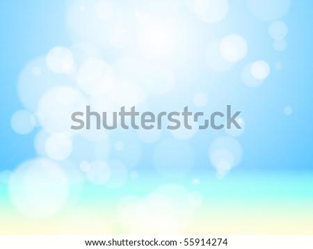 Beautiful sea beach bokeh. Vector background - stock vector