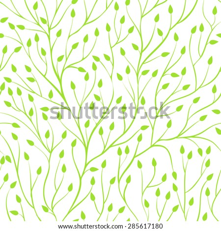 Beautiful seamless background with tree branches. Perfect  background greeting cards and invitations to the wedding, birthday, mother's day and other seasonal holidays - stock vector