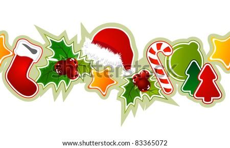 Beautiful seamless christmas pattern - stock vector