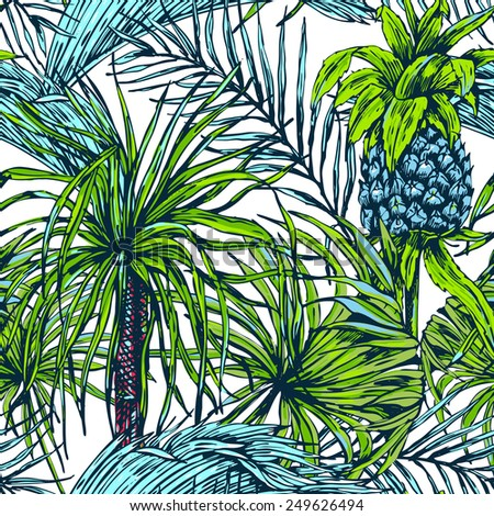 Palm Tree Pattern Tumblr Trees Beautiful Seamless Floral Background And