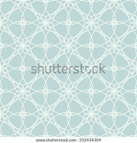 Beautiful seamless pattern for your design. Vector oriental background. Pale blue color - stock vector