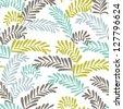 Beautiful seamless spring leaf pattern. Vector illustration - stock vector