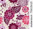Beautiful seamless vector flowers texture in gentle pink colors - stock vector
