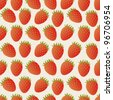 Beautiful seamless vector pattern with strawberries - stock vector