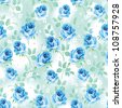 Beautiful Seamless wallpaper with flowers on a white background. Elegance floral vector illustration. - stock vector