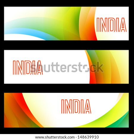 beautiful set of indian flag headers