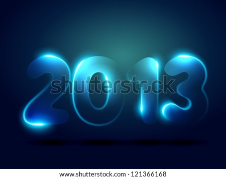 beautiful shiny happy new year vector design - stock vector