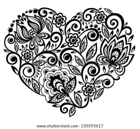 hearts silhouette