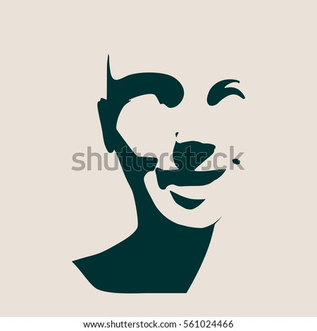 beautiful smiling woman face vector illustration stock vector rh shutterstock com face vectorization face vector free download