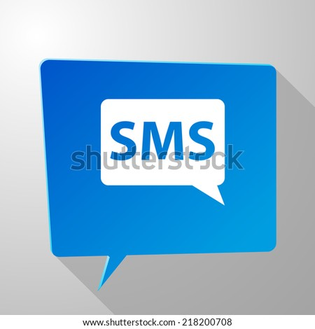 Beautiful sms web icon