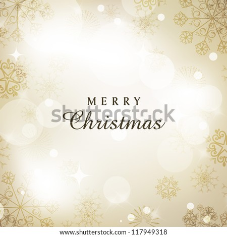 Beautiful snowflakes background for Merry Christmas celebration. EPS 10. - stock vector