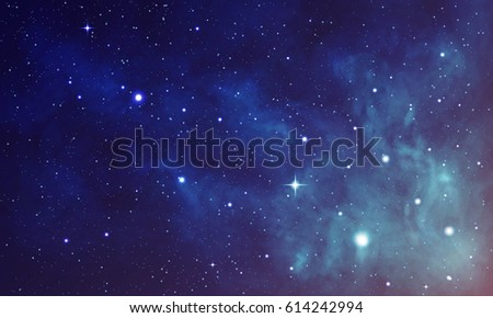 Beautiful space with nebula, realistic vector - EPS 10