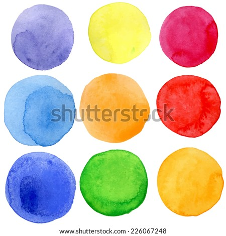 beautiful spots in watercolor for background - stock vector