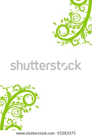 Beautiful spring floral on white background. Illustration with free space for Your design - stock vector