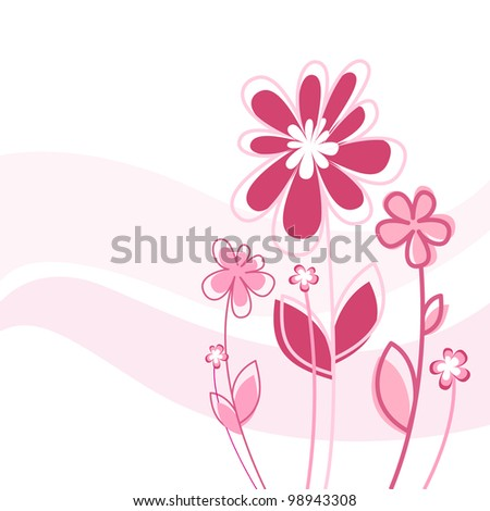 Beautiful spring flower background - stock vector