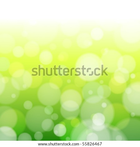 Beautiful spring forest bokeh. Vector background - stock vector