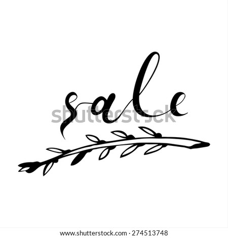 Beautiful Stylish Clearance Poster. Vintage style hand-drawn Sale background. Modern calligraphy advertising. Business Sale vector lettering template.  - stock vector