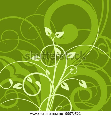 Beautiful summer background with floral ornament - stock vector