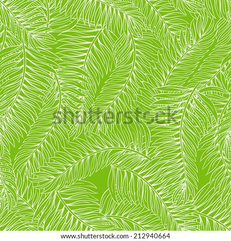 beautiful summer seamless green background with palm leaves. vector illustration