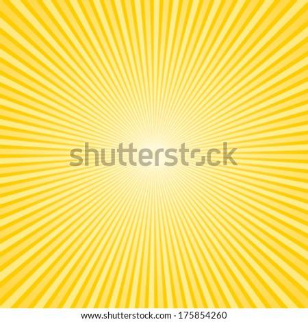 Beautiful sunburst background. Vector commercial wallpaper. - stock vector