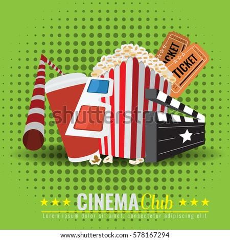 cinema tickets invitation design template stock vector 217775920 shutterstock. Black Bedroom Furniture Sets. Home Design Ideas