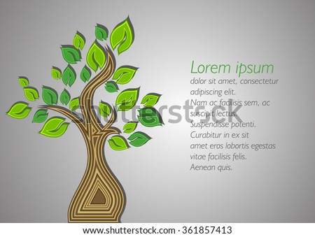 beautiful tree on a grey background. vector illustration