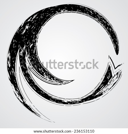Beautiful Unusual Elegant Swirl. Decorative Elements For Background Designs.