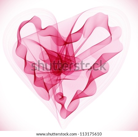 Beautiful Valentine's background with abstract pink heart, illustration, vector