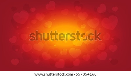 beautiful Valentine's day background with hearts