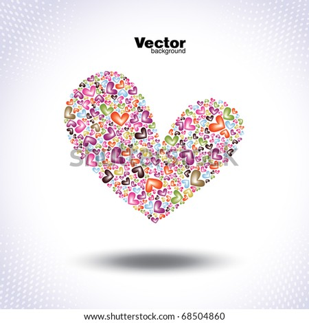 beautiful valentine's vector card - stock vector