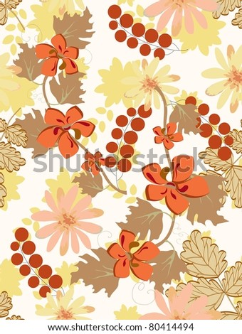 Beautiful vector a pattern seamless floral