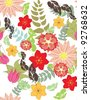 Beautiful vector a seamless pattern floral - stock vector
